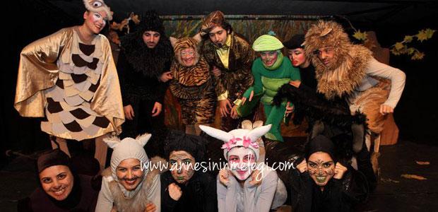 Çevre Çocuk Tiyatrosu La Fontaine orman mahkemesinde