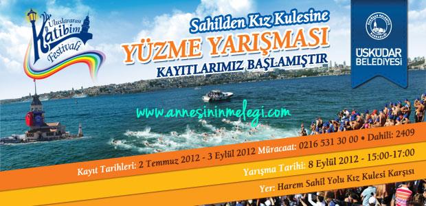 Sahilden Kız Kulesine Yüzme Yarışması 2012