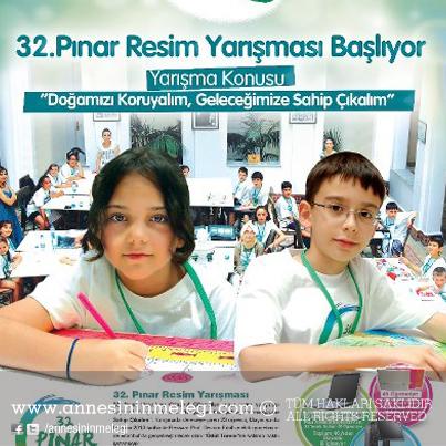 """32. Pınar Çocuk resim yarışması """"Doğamızı Koruyalım, Geleceğimize Sahip Çıkalım"""""""