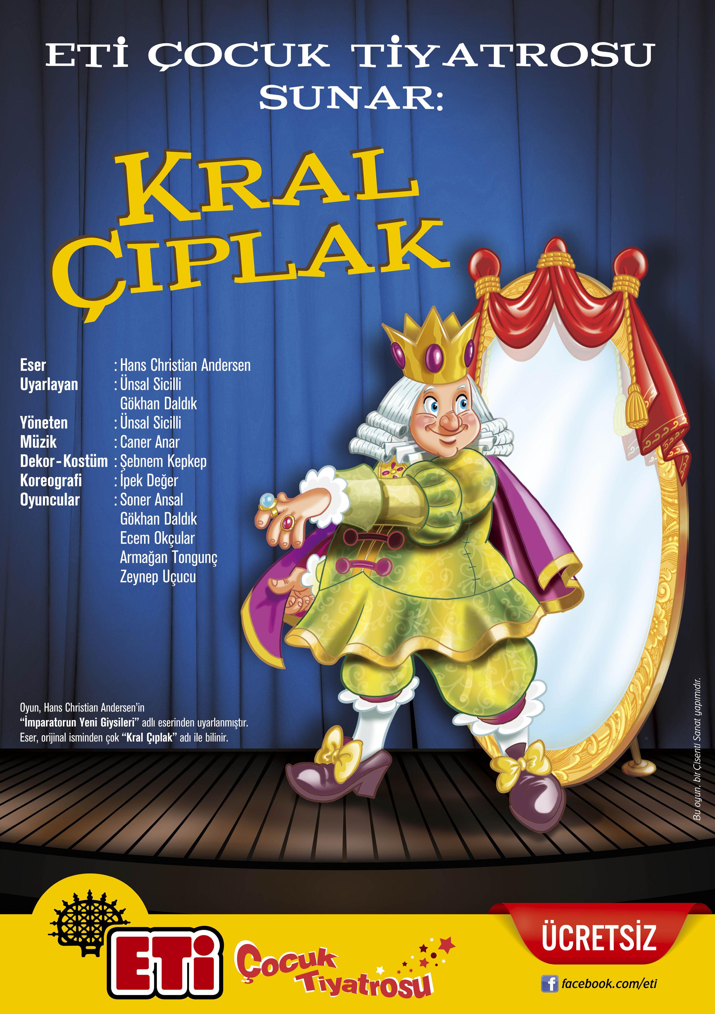 Eti Çocuk Tiyatrosu'ndan 'Kral Çıplak' Çocuk Oyunu | Terakki Vakfı Kültür Merkezi