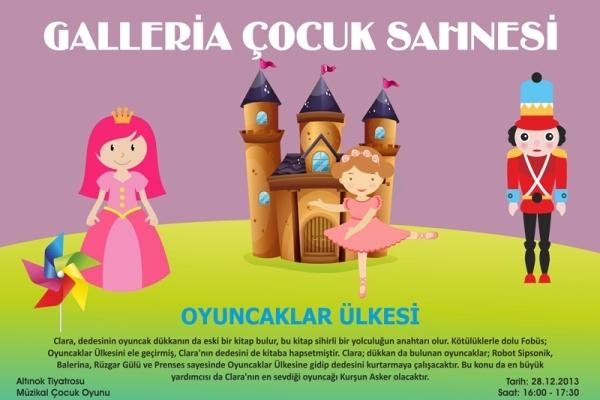 'Oyuncaklar Ülkesi' adlı ücretsiz çocuk oyunu, Galleria Ataköy AVM'de