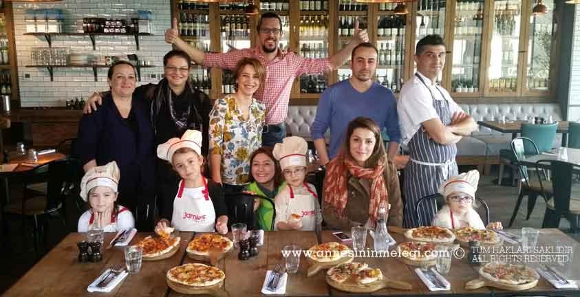 Çocuklar, Jamie's Italian'da 'Pizza' Yapmayı Öğreniyor