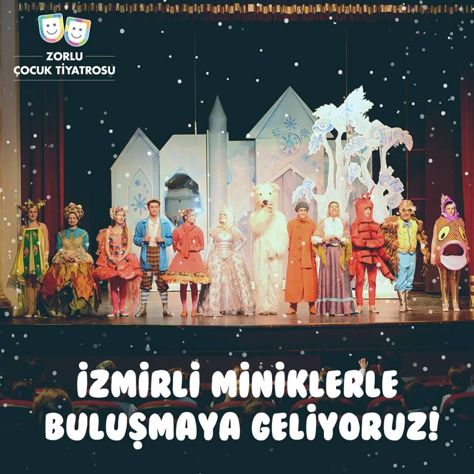Zorlu Çocuk Tiyatrosu, Karlar Ülkesi oyunu ile İzmirli minik tiyatro severlerle buluşuyor! Ücrestiz çocuk oyunu, ücretsiz çocuk etkinlik, ücretsiz tiyatro oyunu