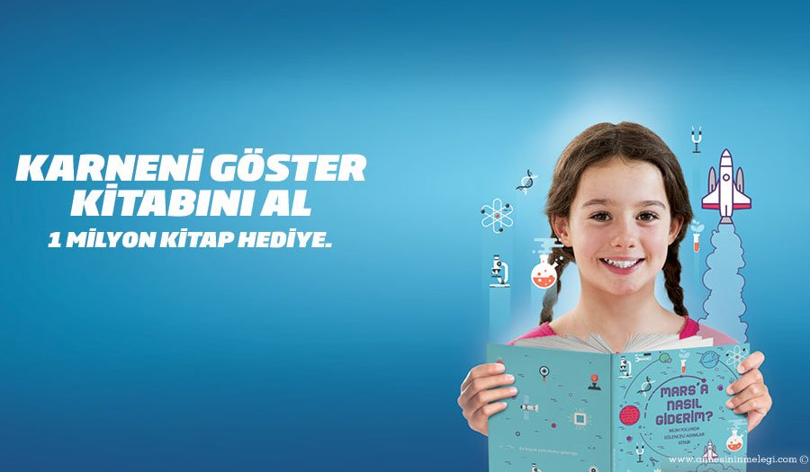 2016'da da Türkiye ve 12 ülkedeki İş Bankası şubelerinden çocuklarımız için karne hediyesi kitaplar dağıtılacak.karne hediyesi,ücretsiz kitap, ücretsiz,iş bankası,Mars'a Nasıl Giderim,bilim kitabi,hediye kitap