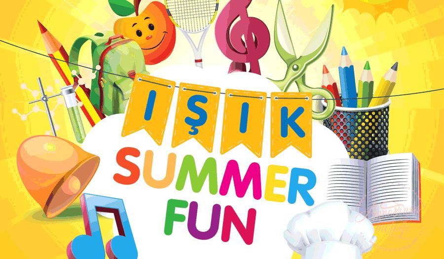 FMV Işık Okulları, Temmuz ayında, ana dili İngilizce olan öğretmenler tarafından verilen Işık Summer Fun isimli yaz programına başlıyor. Işık Summer Fun,FMV Işık Okulları,yaz okulu,ingilizce kampı,Işık Spor Sanat Tasarım Akademisi ,sportif oyunlar, mutfak atölyesi, müzik, sınıf içi, sınıf dışı oyunlar, kodlama, dans , görsel sanatlar etkinlikler,yaz okulu,yaz kampı.