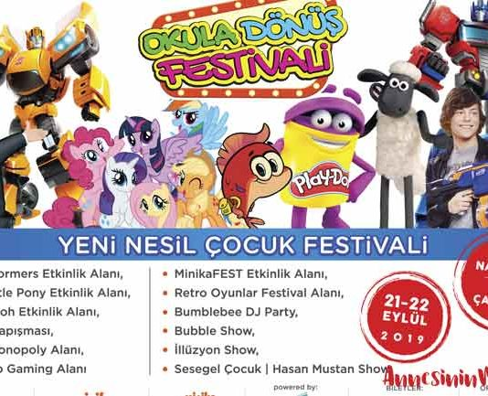 Okula Dönüş Festivali 21 – 22 Eylül tarihlerinde Tepe Nautilus'a geliyor.