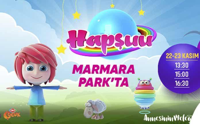 TRT Çocuk'un sevilen çizgi filmlerinden Hapşuu, 22-23 Kasım tarihlerinde tiyatro oyunuyla Marmara Park Alışveriş Merkezi'nde çocukları bekliyor.