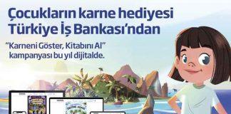 Karne hediyesi İşbankasından! İş Bankası'ndan çocuklara tatil hediyesi kitaplar Çocuklarımızın karne hediyeleri Türkiye'nin bankası İşbankası'ndan